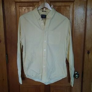 Abercrombie & Fitch yellow long sleeve button down